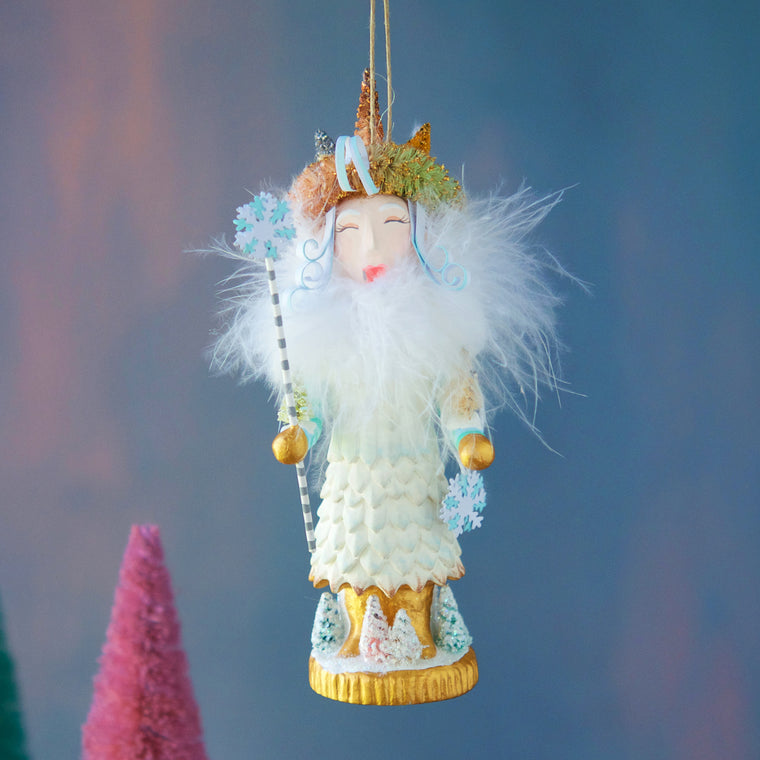 Snow Queen Nutcracker Ornament
