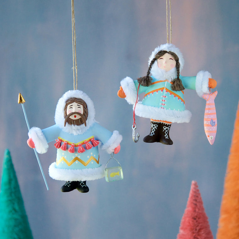 Yukon Couple Ornament (2 Assortment)