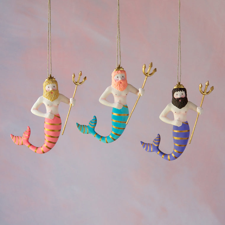 Colorful Neptune Ornament (3 Assortment)