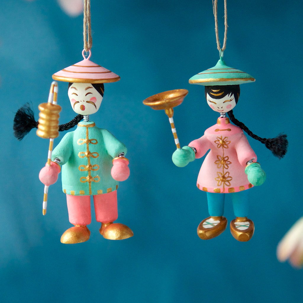 Asian Wiggler Ornament (2 Assortment)