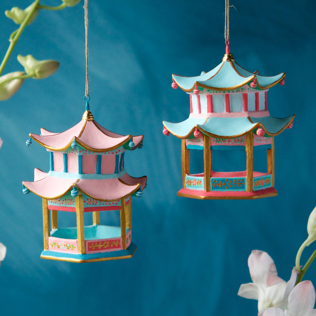 Pagoda Ornament (2 Assortment)