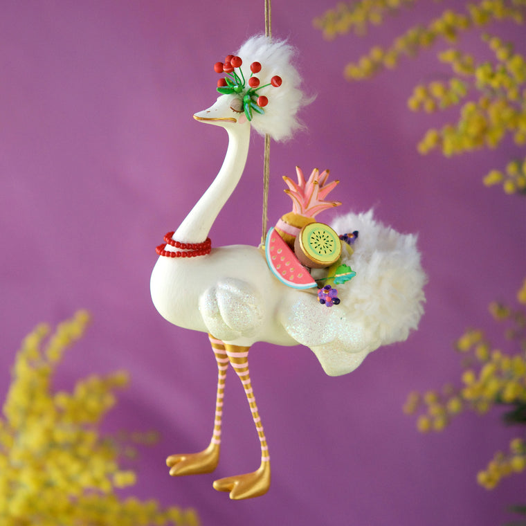 Lulu the Ostrich Ornament