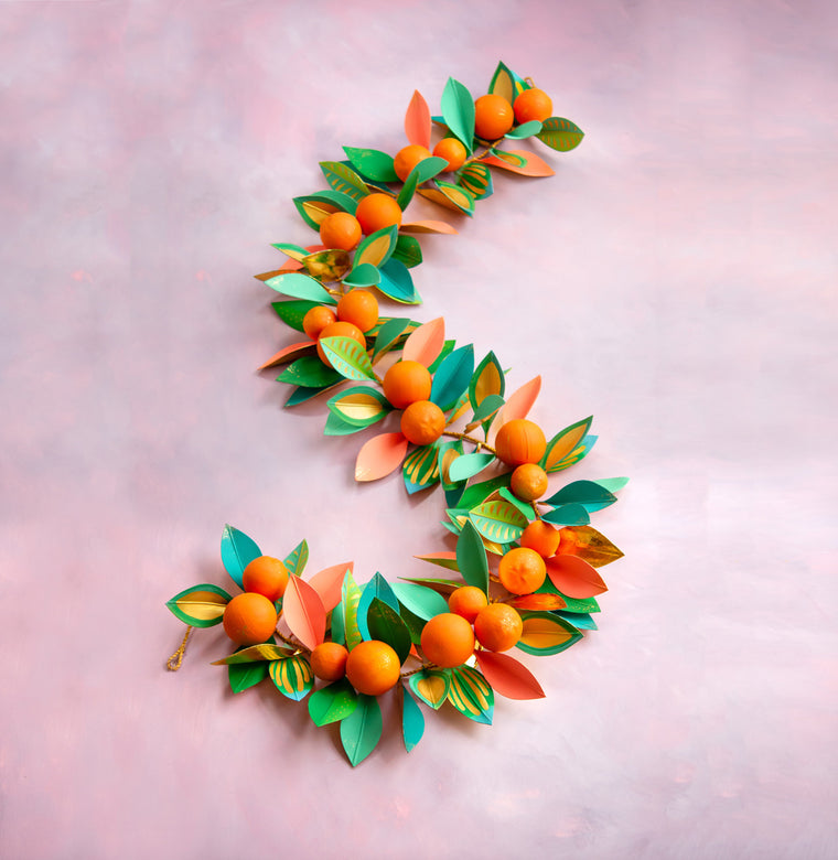 Celebrate Citrus Orange Garland