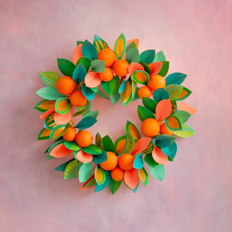 Celebrate Citrus Orange Wreath