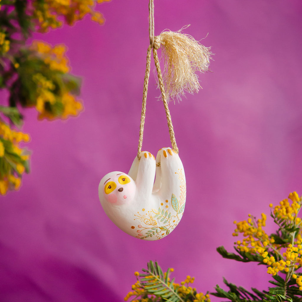 """Slothy"" the Sloth Ornament"