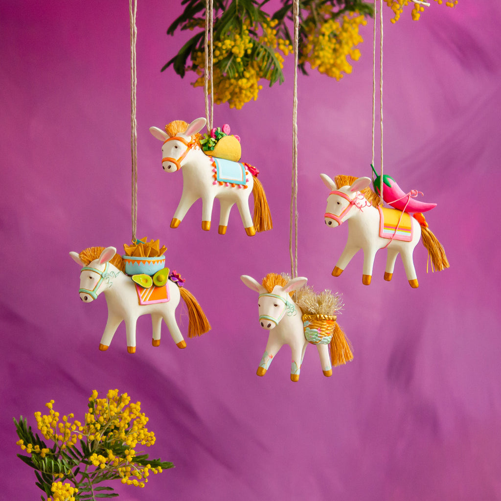 """Busby"" the Burro & Friends Ornament"