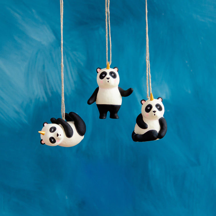 Panda Unicorn Ornament