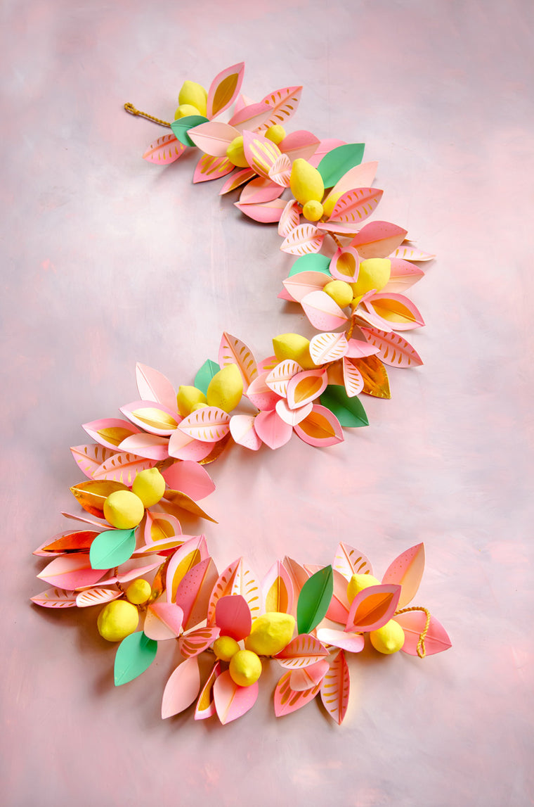 Celebrate Citrus Lemon Garland