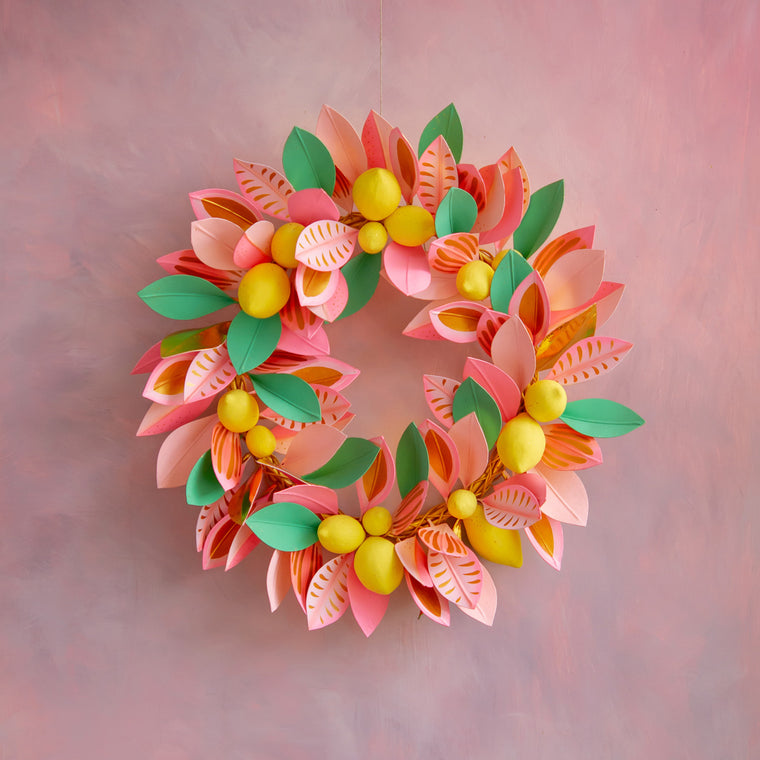 Celebrate Citrus Lemon Wreath