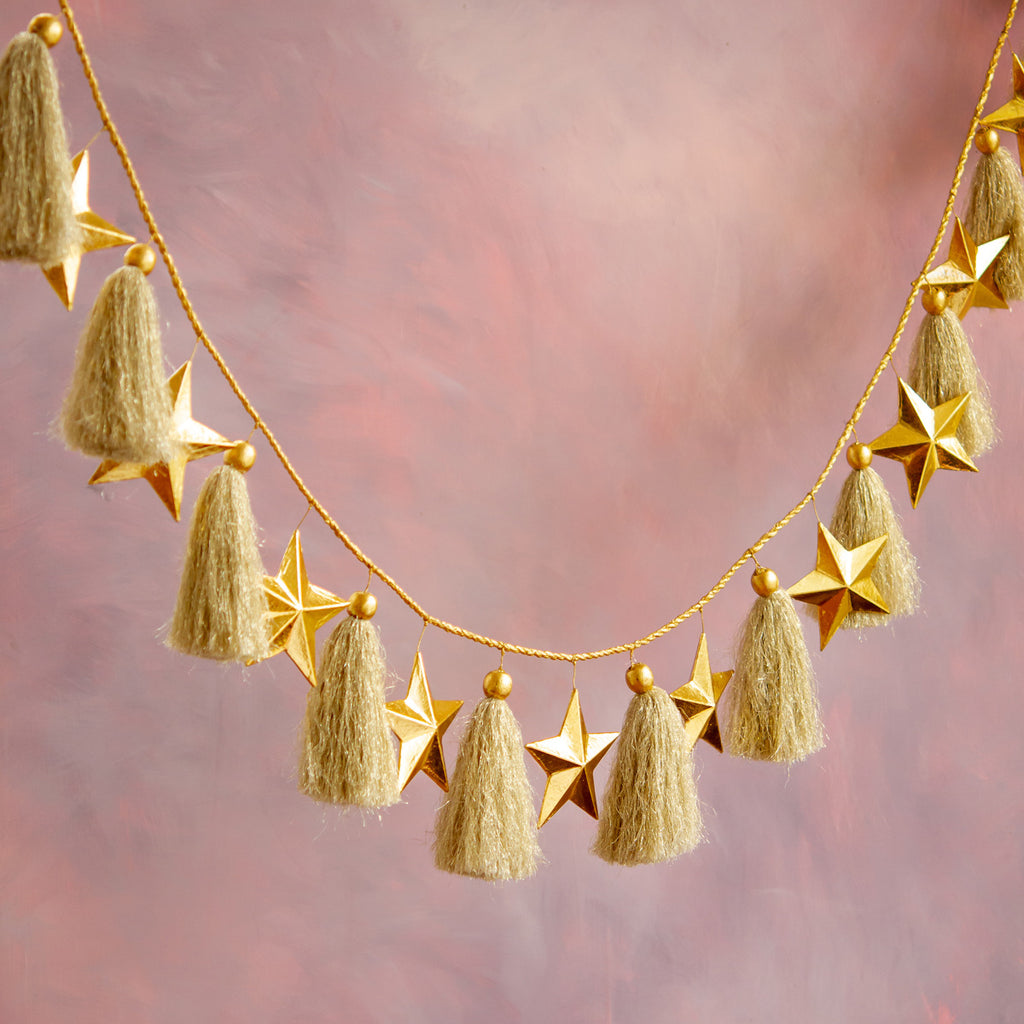 Gold Star Garland