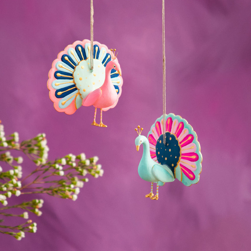 Pastel Peacocky Ornament