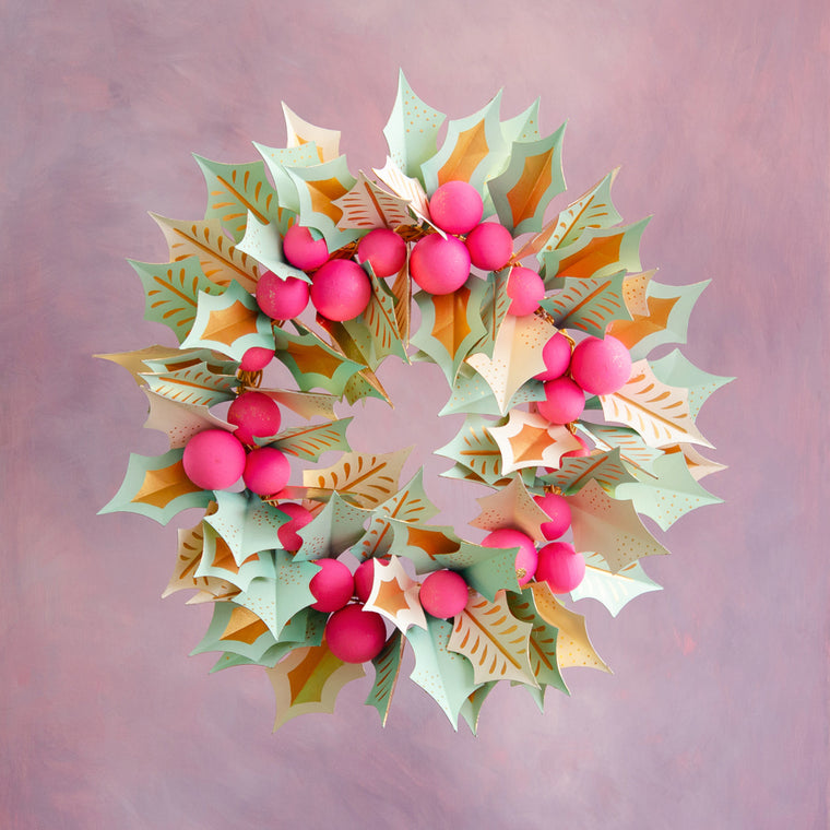 Handmade Holly-Days Wreath