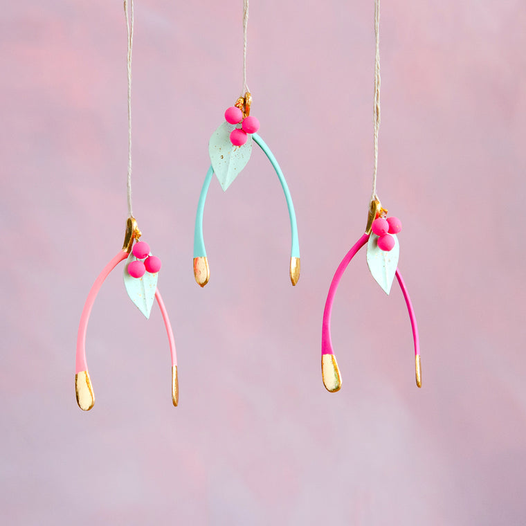 Berry Wishbone Ornament