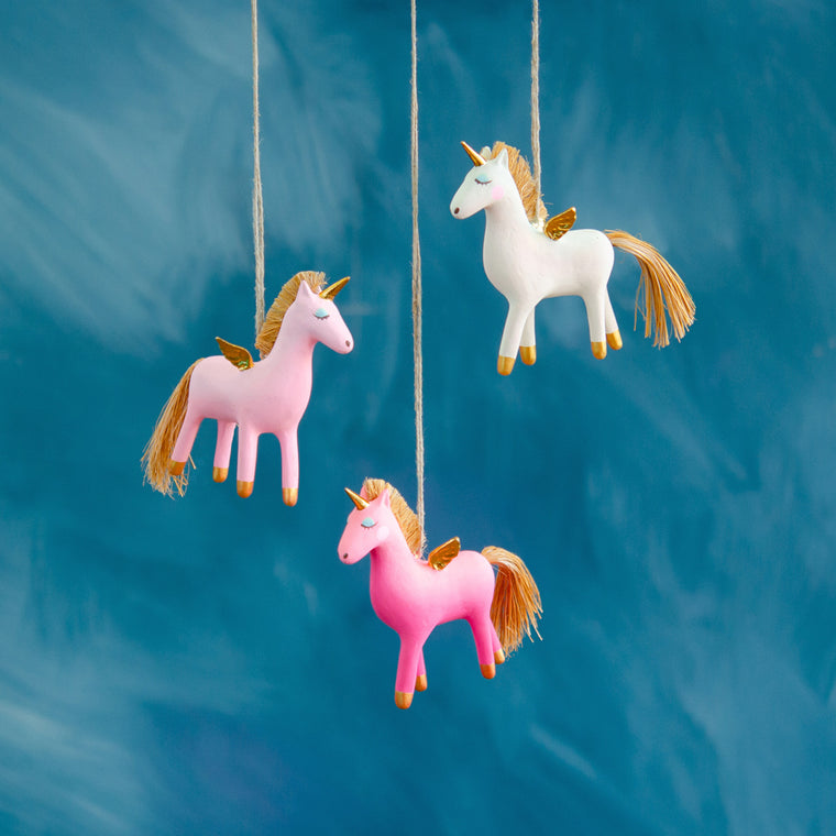 Pinkasus the Winged Unicorn Ornament
