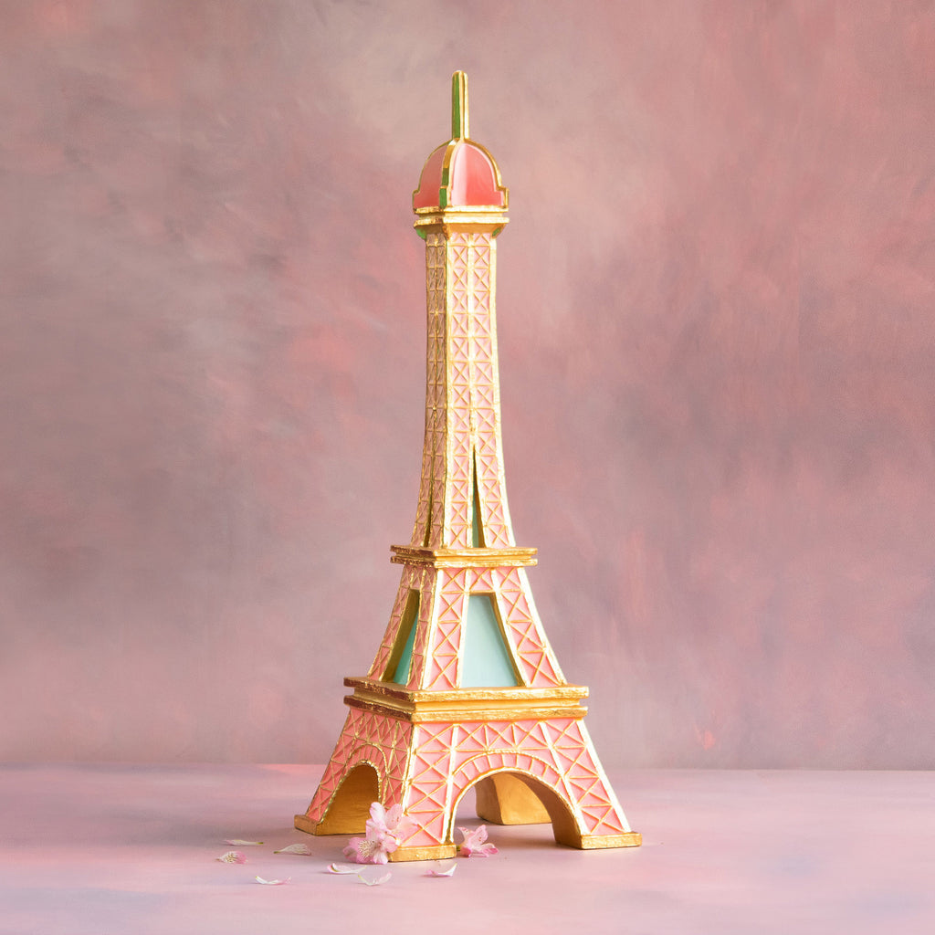 Pink Eiffel Tower Display