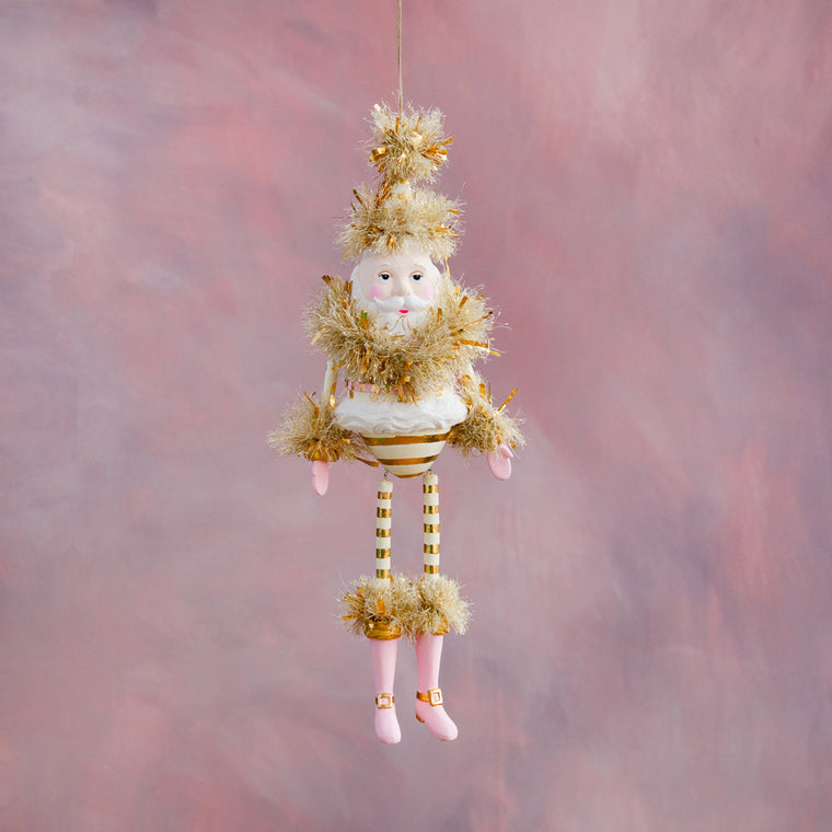 Large Gold & Blush Papa Noel Figure