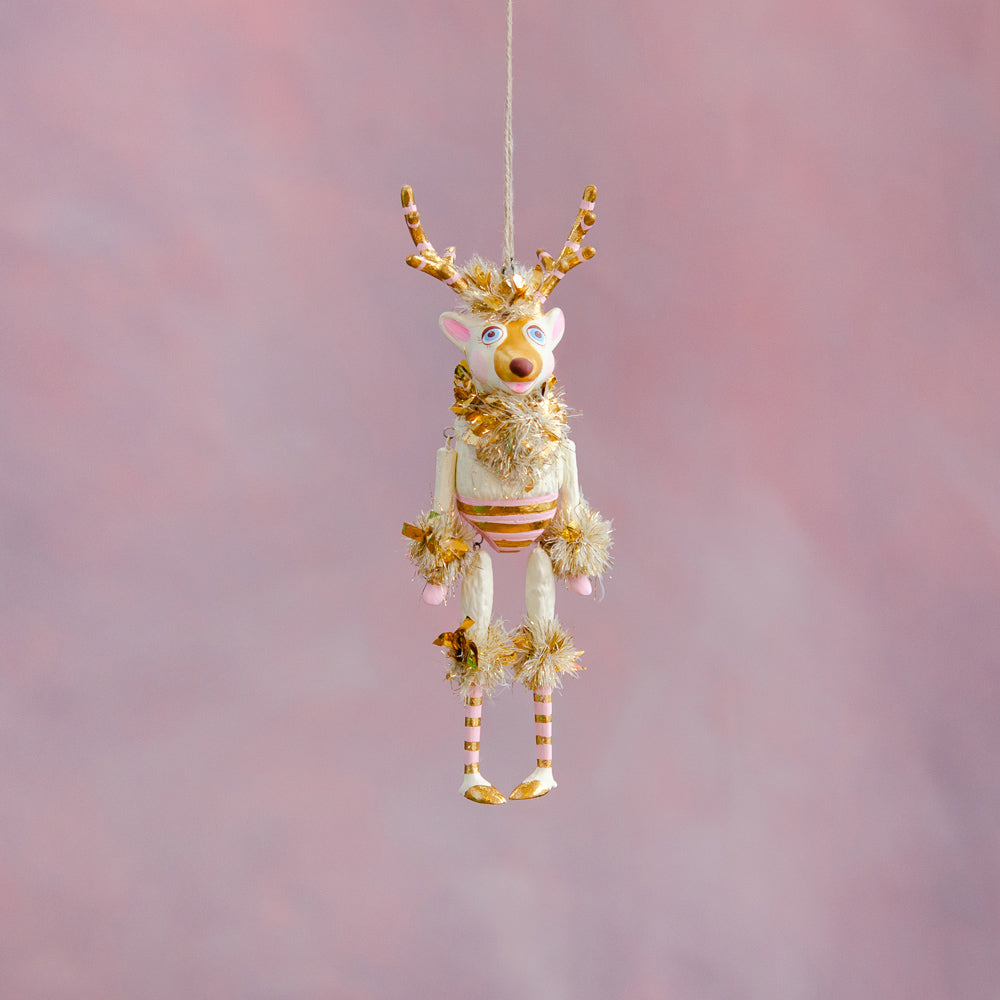 Gold & Blush La Renne the Reindeer Ornament
