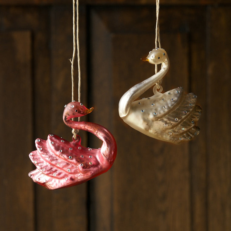 Jeweled Swan Ornament