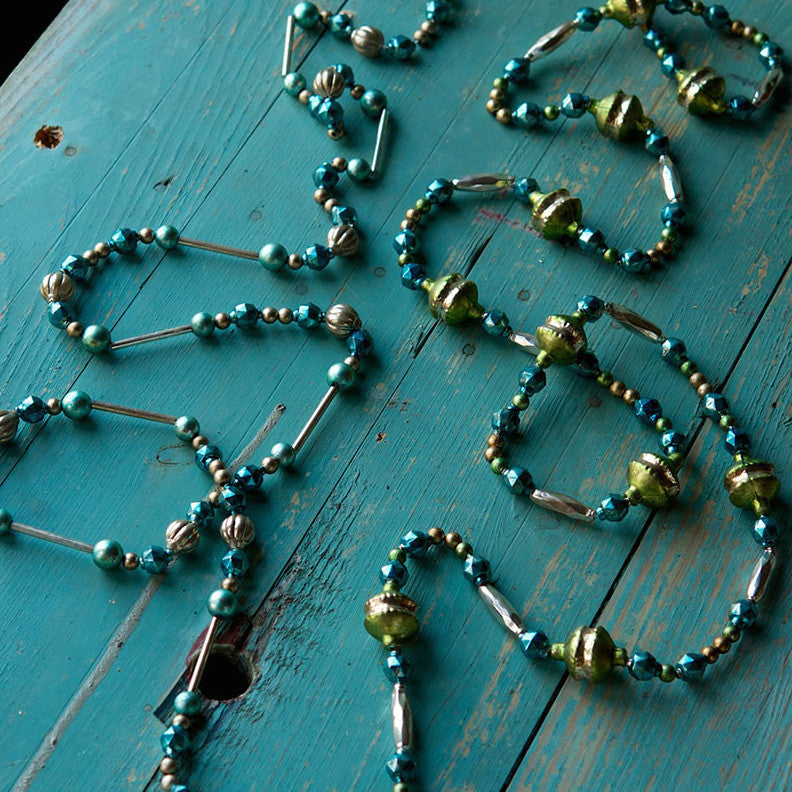 Shades of Sea Glass Garland