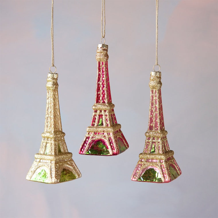 Warm Shades Eiffel Tower Ornament