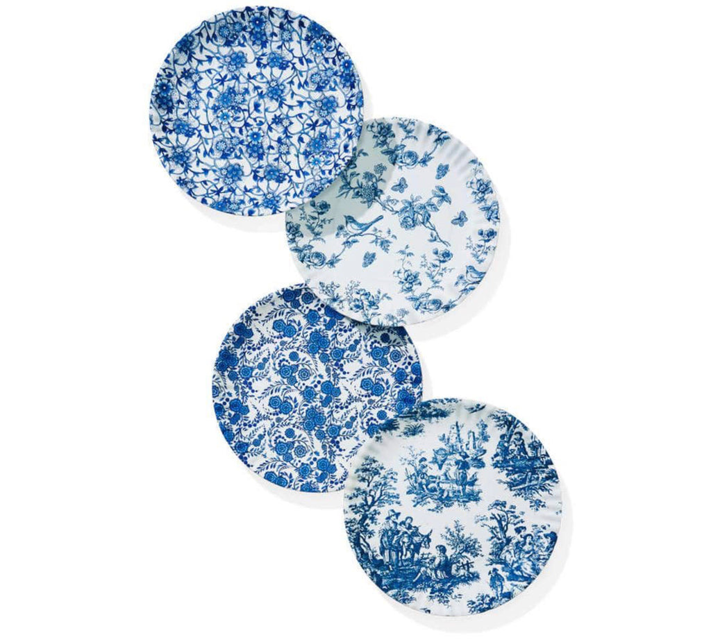 Brighton Blue Garden Plates, Set of 4