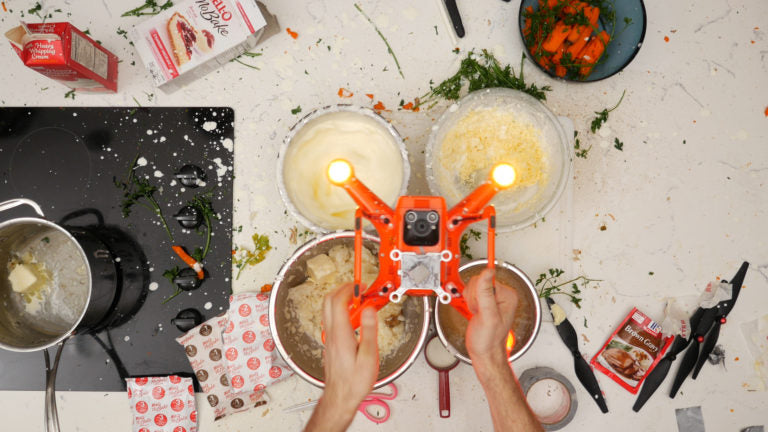 We Cooked Thanksgiving Dinner With a Drone, and Here's What Happened