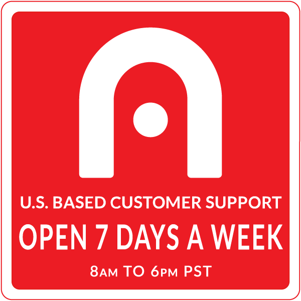 U.S.-Based Customer Support available 7 days a week