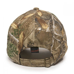 Washed Camo Hat Realtree Edge Back View