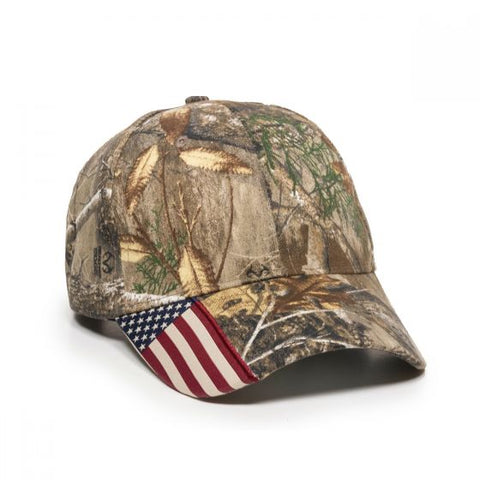 Camo with Flag Accent