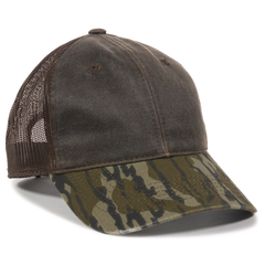 Weathered Cotton Mesh Back with Camo