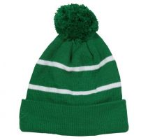 Knit Beanie with Fleece Lining in Kelly Green
