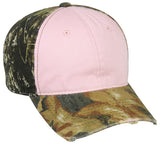 Pink with camo ladies camo hat