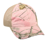 Realtree APC Pink with Khaki Mesh Back camo hat