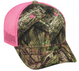 Mossy Oak Break-Up Country with Neon Pink Mesh back camo hat