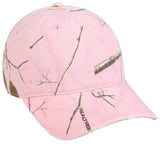 unstructured frayed visor ladies camo hat