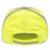 Back of Reflective Cap in Safety Yellow