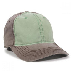 Pigment Dyed Cotton Twill Hat in Mint/Charcoal