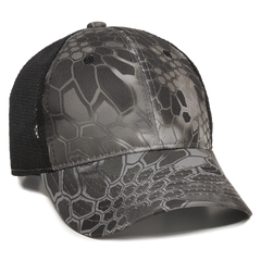 Kryptek Raid/Black Platinum Series Mesh Back Camo