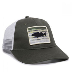 Striper Mesh Back Fishing Hat