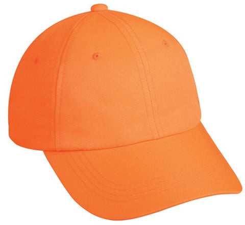 Blaze Orange Unstructured Polyester Cap - Hunting Camo Caps -Sport-Smart.com