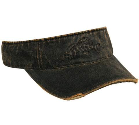 Mean Bonefish Weathered Fishing Visor - Visors -Sport-Smart.com