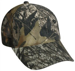 Mid to Low Profile Camo Mesh Back Hat - Sport-Smart.com