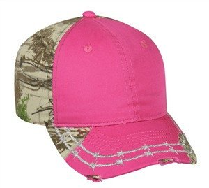 Camo Barbed Wire Design Hat - Hunting Camo Caps -Sport-Smart.com
