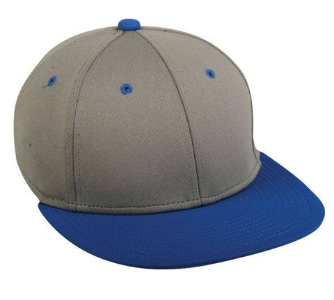 ProFlex Flat Visor Fitted Cap - 2 Tone Colors - Baseball Hats -Sport-Smart.com