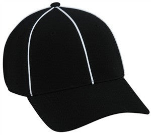 Officials Fitted Cap with Piping - Fitted Caps -Sport-Smart.com