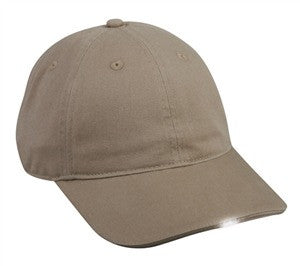 Washed Cotton Cap with Lights - Caps with Lights -Sport-Smart.com