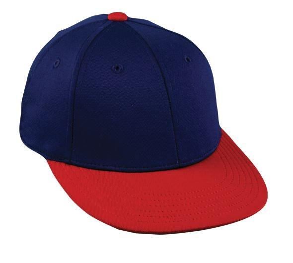 ... ProFlex Flat Visor Fitted Cap - 2 Tone Colors - Baseball Hats  -Sport-Smart ... f8332f034cd