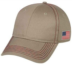 Cotton Twill Flag Cap - Baseball Hats -Sport-Smart.com