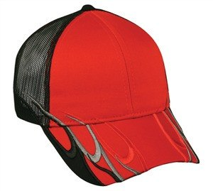 Mesh Back Cap with Wave Design - Baseball Hats -Sport-Smart.com