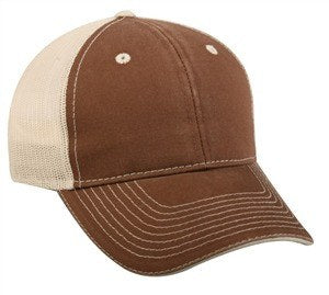 Washed Cotton Front Mesh Back Cap - Baseball Hats -Sport-Smart.com